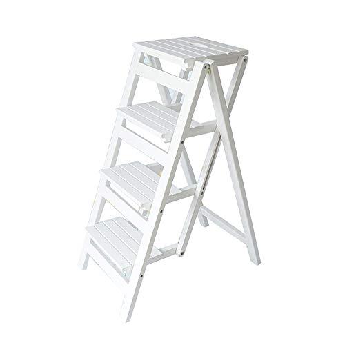 MEI XU Hölzerner faltender Trittleiter-hölzerner faltender Schritt-Schemel für Erwachsene u. Kinderküche-Leiter-Kleiner Fuß-Schemel-tragbarer Schuh-Bank/Blumen-Gestell @
