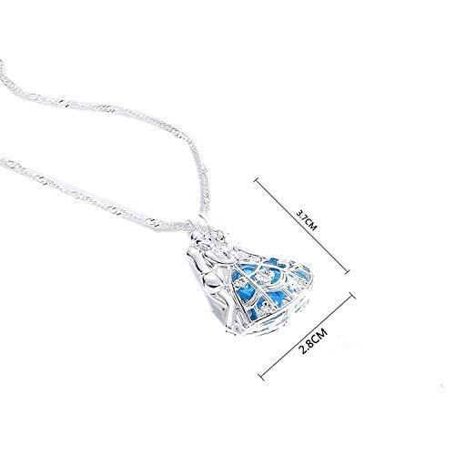 Perlenkette Trendy Party-Schmuck Frauen Geschenk Silber Gliederkette lange Halskette (Halskette Für Haifisch Kinder Zahn)