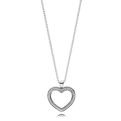 ting Heart Damen Medaillon mit Halskette 925 Sterlingsilber 60 cm ()