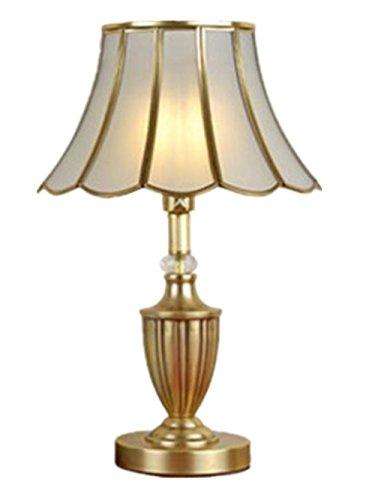 XXFFH Glühlampen Leuchtstofflampe Licht Fyn Große Tischlampe Büro Schreibtisch Luxus Licht Lampe Nachtlicht Schlafzimmer Gold Antique Messing 31 * 44Cm (Prisma Garn)