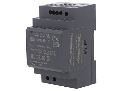 DDR-60G-5 Pwr sup.unit DC/DC 54W 5VDC 10.8A 9÷36VDC Mounting DIN 216g MEANWELL -