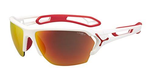 Cébé S'Track - Gafas de sol deportivas, color blanco mate / rojo, talla L