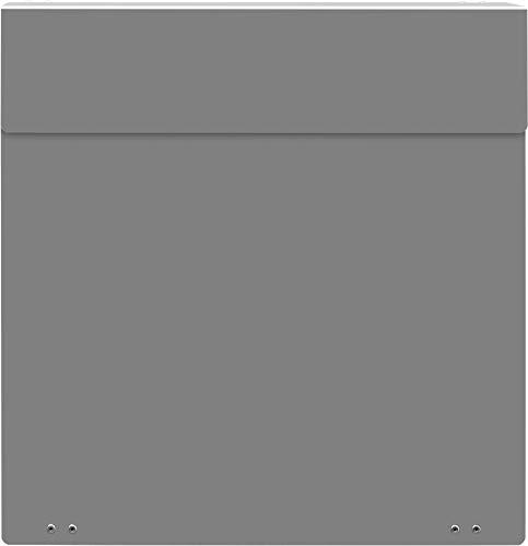 Frabox Design Briefkasten NAMUR Stahl lackiert, RAL 9007 Graualuminium