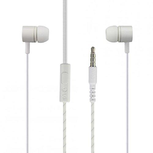 Tpc© originali cuffie auricolari vivavoce in ear lg i suoni mc002(eab64168758) per lg g3, g3s, g4, g5, v10, bianco