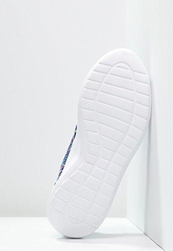 Anna Field Sneaker Damen Low in Weiß, Schwarz, Blau oder bunt mit Muster - Turnschuh Frauen mit Blumenmuster, Halbschuh mit Tiermuster Tiermuster - Blau / Schwarz / Weiß