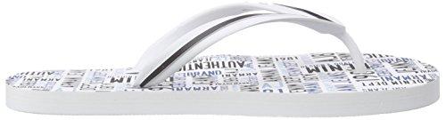 Armani Jeans C656156, Sandales ouvertes homme Blanc - Weiß (BIANCO - WHITE 10)