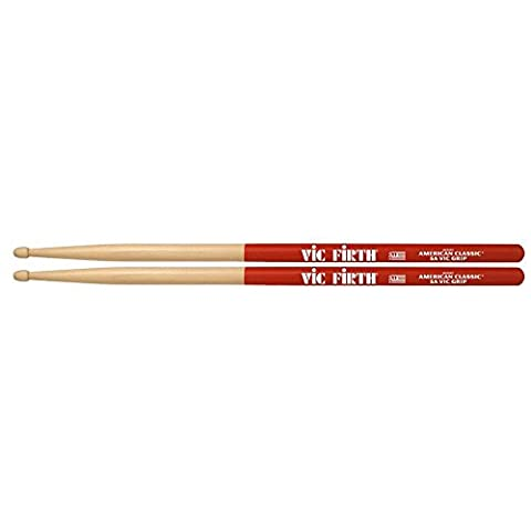 Vic Firth 5A American Hickory Vic Grip Wood Tip