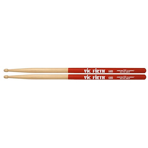 "VIC FIRTH 5AVG Drum-Stick""5A American Classic-Serie, Hickory,Wood-Tip"""