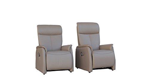 Fernsehsessel Echtleder TV Sessel mit Aufstehhilfe 2 Motoren - 4