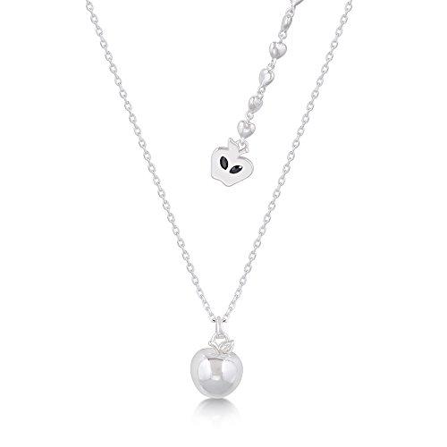 Platinierte Schneewittchen giftiger Apfel Halskette von Disney Couture - Couture Disney Schmuck