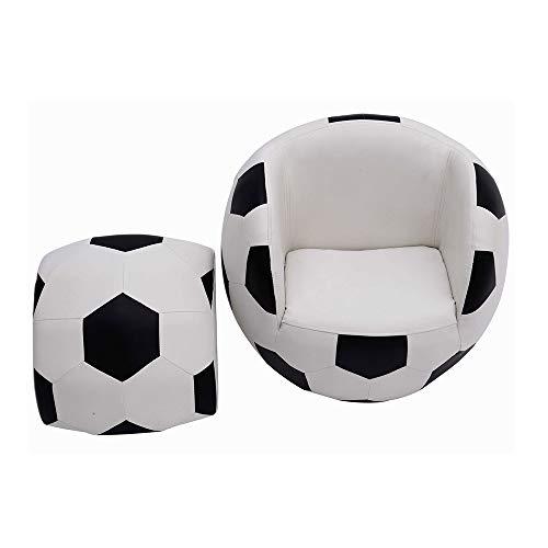 Yi kui divano per bambini, poltrona per bambini poltrona, divano singolo per bambini a forma di pallone da calcio in tessuto
