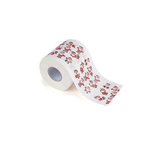(TianranRT Weihnachten Muster Rolle Papier Drucken Interessant Toilette Papier Tisch Küche Papier (D))