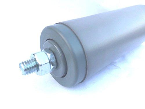 Tragrollen Tragrolle Außengewinde Plastik Rollenbahnen Ø 40 mm Kunststoff 232763236891 (Einbaulänge 30cm/Achslänge 33cm)
