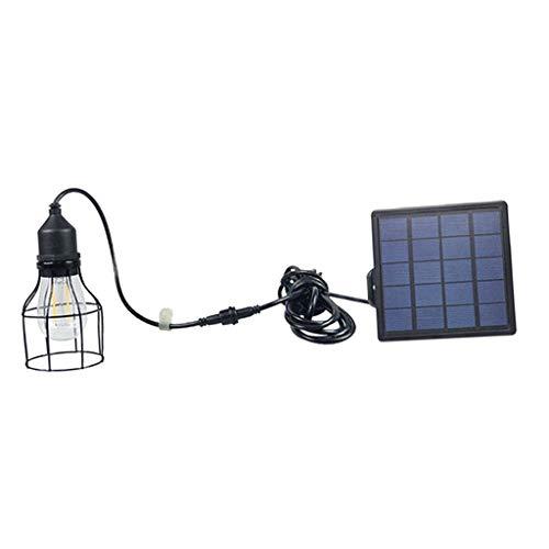 Sharplace Lampe à Suspension Eclairage Solaire Vintage Fil Fer Abat-Jour Décoration - Noir #2