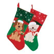 Christmas Stocking, Cat or Dog by Christmas House ()