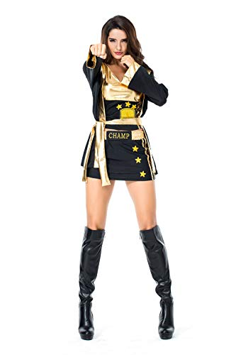 VENI MASEE Damen Boxer/Punch Lady Kostüm Halloween Cosplay Kostüm