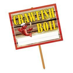 Crawfish Boil Yard Sign Party Accessory (1 count) by Beistle