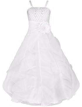 Freebily Festliches Mädchen Kleider für Kinder Brautjungfern Lange Kleider Hochzeit Party Prinzessin Kleid Festzug...