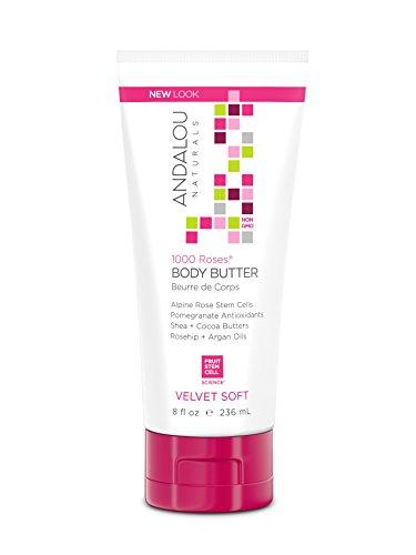 Andalou Naturals 1000Rosen Samt Soft Body Butter, 8Unze -