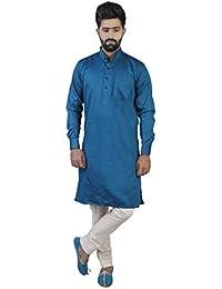 Veera Paridhaan Men's Cotton&Partywear Plain Full Sleeve Kurta
