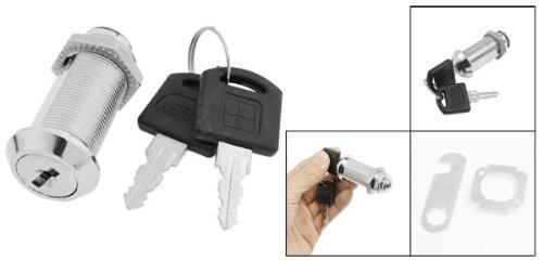 Sourcingmap 23mm Durchmesser 51mm Höhe Gehäuse Metall Cam Lock Silber Ton