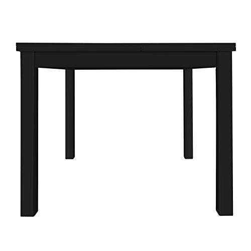 Furniture 247 - Tavolo da pranzo a 4-6 posti in rovere nero