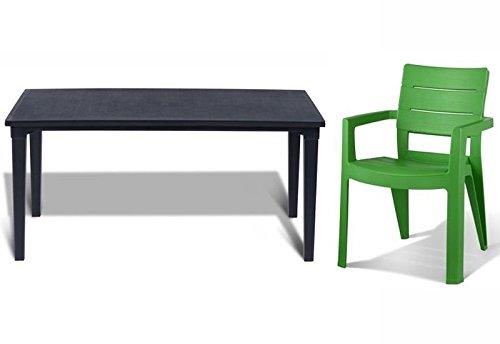 tepro Gartenmöbel-Set Futura und Ibiza graphit / grün