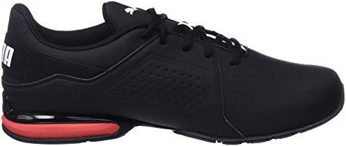 Puma Men's Viz Runner Competition Running Shoes, Black White 13 UK Img 4 Zoom