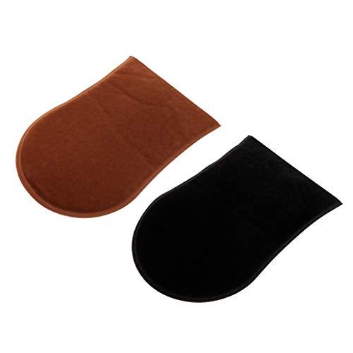 Homyl 2 Stück Doppelseitiger Bräunungs Optimierer Luxuriöser Samt Handschuh als Applikator von Selbstbräunungscreme