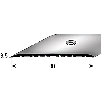 acerto 38222 Profil/é de r/églage en hauteur en aluminium bronze clair * 2-16 mm * Avec vis * Profil/é de transition pour stratifi/é 100 cm parquet et moquette Profil de sol Profil de transition