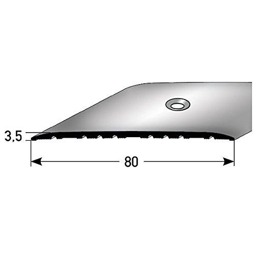 **TOPSELLER** Übergangsprofil / Übergangsschiene / 80 mm, Typ: 350 (Aluminium, mittig gebohrt), Farbe: SILBER