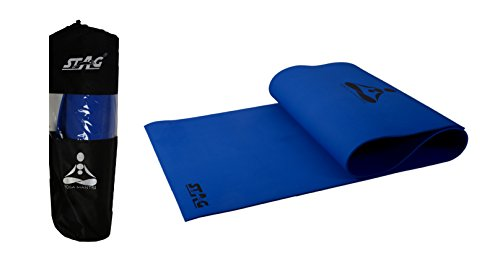 STAG YOGA MANTRA MAT WITH BAG, 8 MM (Blue)