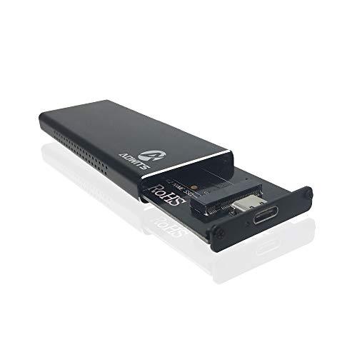 Adwits Adaptateur SSD PCIe Hautes Performances USB 3.1 UASP Type-C vers NVMe M.2, boîtier de Disque Dur Portable pour Samsung, Kingston, ADATA, DREVO et Plus Disque SSD Interne NVMe, Noir