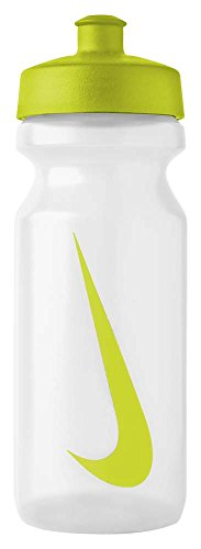 Nike - bottiglia per acqua, unisex, big mouth water bottle, clear/atomic green