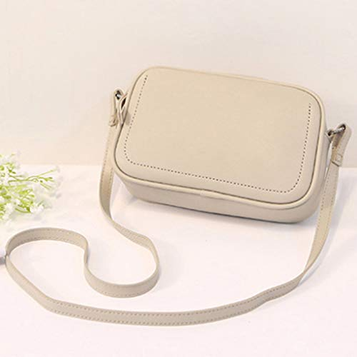 XZDCDJ UmhängeTaschen Damen Damen Mode Allzweck Small Square Bag Single Schulter Messenger Bags Weiß