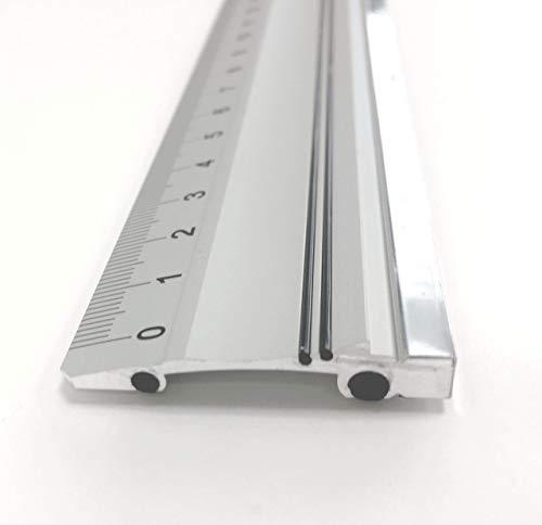 50cm Altera Aluminium-schneidelineal Mit Stahlkante, Rutschfest (im Etui Verpackt)