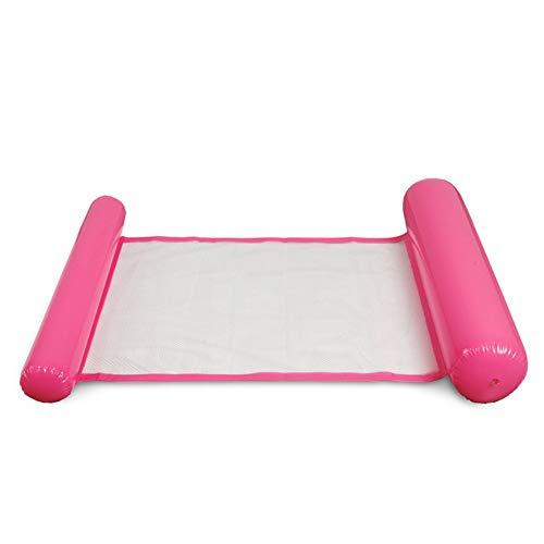 Alextry, aufblasbare Luftmatratze / schwimmendes Bett / Wasser-Hängematte / Lounge-Sessel, für Schwimmbad / Strand, für Erwachsene rose