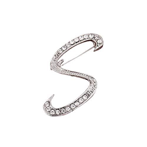 iCerber Muttertagsgeschenk 1 stück kristall 26 englische Buchstaben brosche Paar gedenkschmuck Liebe Geschenke Buchstaben, Glitzersteine, Strasssteine, brosche mit Initialen