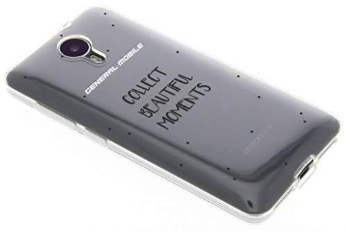 Transparente Zitat-Design TPU Hülle für General Mobile 4G / GM5