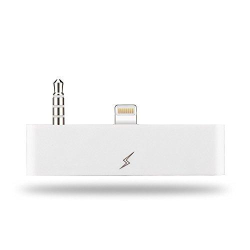 OKCS 8 Pin 30 8 Audio Adapter - 8 Pin auf 30 Polig Buchse AUX - mit AUDIOÜBERTRAGUNG - kompatibel mit iPhone 6 Plus, 6s Plus - Weiß (30 8 6 Pin-adapter Iphone Pin-zu Auf)
