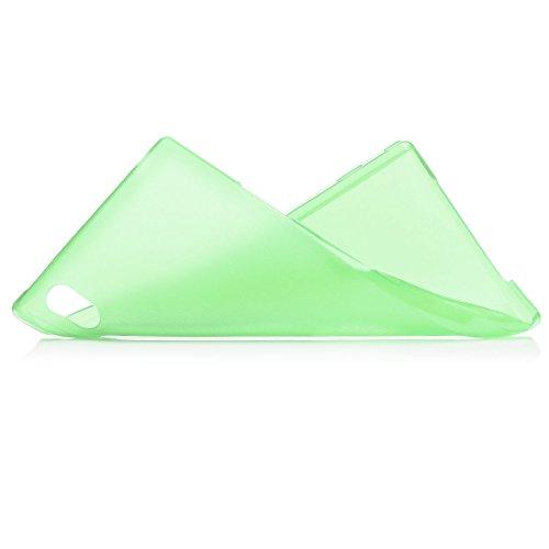 iCues Sony Xperia Z1 |  Zero Matt Case Grün | [Display Schutzfolie Inklusive] Extra Leicht sehr Dünn Transparent Klarsichthülle Durchsichtig Klare Klarsicht Schutzhülle Hülle Cover Schutz