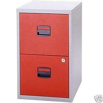 Elegant Bisley 2 Drawer Locking A4 Filing Cabinet Pfa2   Red
