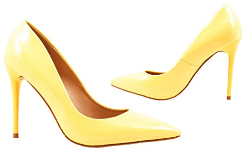 Elara punta Pumps | moderne High Heels | Comodo di tacco alto Gelb Paris