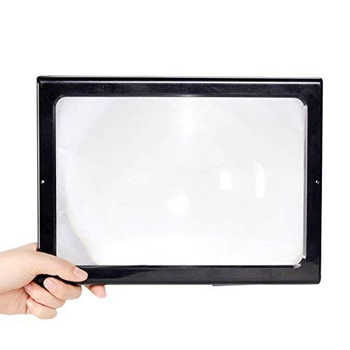 HJBH Desktop Lighting Lupe - Mit LED-Licht 3X HD Objektiv Zum Lesen Bücher Schmuck Label Watch DIY Handwerk Gravur und Reparatur - Schwarz 205 * 273 * 98mm