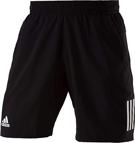 Club Shorts (adidas Herren Club 3-Streifen Shorts, Black/White, L)