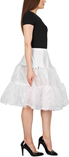Black Butterfly 25 Rockabilly Petticoat 1950er-Jahre Komplett aus Satin-Organza Tellerrock Weiß