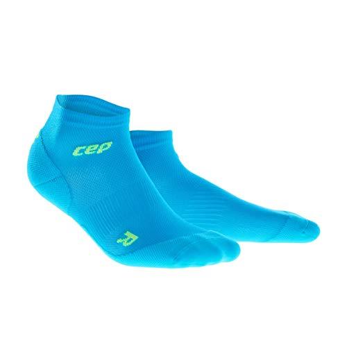 Cut Socks für Herren | Dünne Sportsocken für Dein Workout in blau/grün | Größe III ()