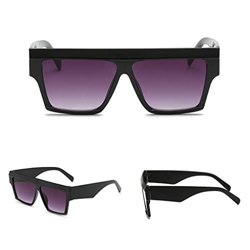 CADANIA Platz Sonnenbrille Shades Spiegel Brillen Retro Stil Großen Rahmen Sonnenbrille Übergröße Mann Frauen 1#
