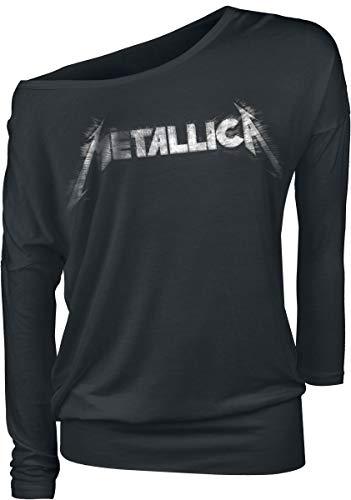 Metallica Spiked Logo Camisa Manga Larga Negro XXL