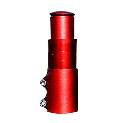 JoyFan 28.6mm Diameter Mountain Bike stem Riser Bicycle Bike Fork Riser Rise up Device Head Tube Riser stem Extender Adapter (Mountain-bike Stem Red)
